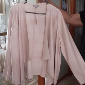 New never worn pink faux leather jacket